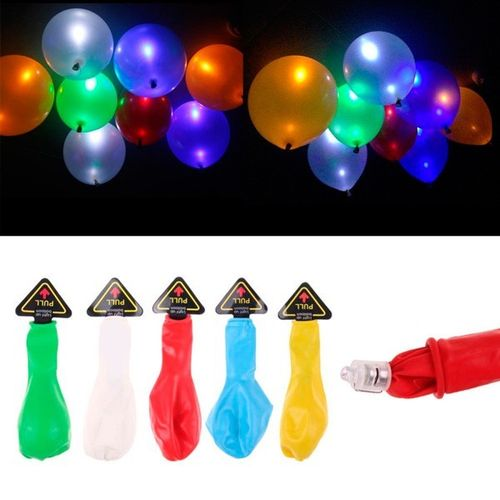 Pack 5 Globos Led de Colores